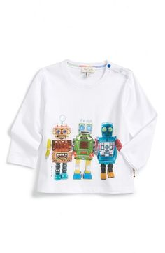 Paul Smith Junior 'Robot' Graphic T-Shirt (Baby Boys)
