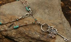 Our Signature Turquoise and Andalusite Beaded Charm by cathydailey, $178.00