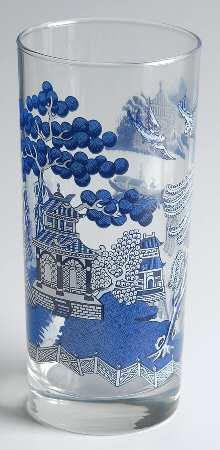 Replacements, Ltd. Blue Willow glass tumbler