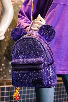 Obsessed with Disneyland merch? Get Your Ears On just kicked off and the merchandise is AMAZING! This Potion Purple backpack is the hottest item! Girly Backpacks, Cute Mini Backpacks, Stylish Backpacks, Monkey Bag, Kawaii Bags, Unicorn Fashion, Disney Purse, Girls Bags, Cute Bags