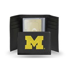 Michigan Wolverines Embroidered Trifold Wallet