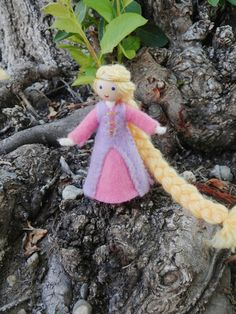 miniature Rapunzel princess doll Waldorf bendy doll – Wildflower Innocence Toys