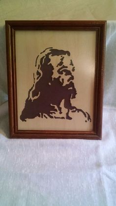 Vintage Reverse Silhouette Wooden Picture