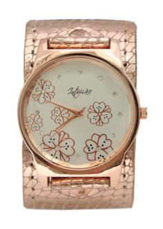 Relógio Pulseira Metálica Rosé