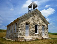 Stone school house, Native Stone Scenic Byway. (FOX CREEK SCHOOL HOUSE)