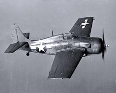 """General Motors FM-2 """"Wildcat"""" fighter. (Bureau # 15953, the second production FM-2). Undergoing flight testing, circa late 1943. Official U.S. Navy Photograph, National Archives collection: 80-G-224669."""