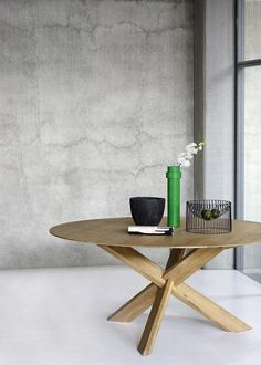GlobeWest - Ethnicraft Circle Dining Tables