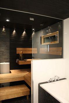 H: tammikuu 2013 Home sauna Saunas, Ecuador, Piscina Spa, Sauna Design, Spa Rooms, Steam Showers, Home Spa, Dream Rooms, Jacuzzi