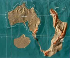 Future map of Australia and New Zealand by Gordon Scallion