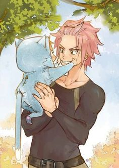 Awwwww Natsu as a dad!! And the child has blond hair!! NaLu <3
