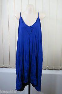Size M 12 Ladies Blue Dress Cocktail Party Wedding Drape Crushed Design | eBay