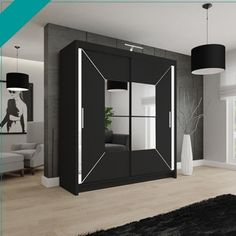 Price: £319.99 – £419.99 Colors White, Black, Grey Specifications:- Dimensions: Width: 120cm,150cm,180cm,203cm Height: 216cm Depth: 62cm Sliding Mirror Wardrobe, Mirrored Wardrobe, Black Wardrobe, Wardrobe Sale, Bedroom Wardrobe, Purple Bedroom Design, Double Mirror, Sofa Set, Bedding Sets