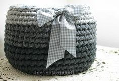 Crochet basket (photo only, no tutorial)