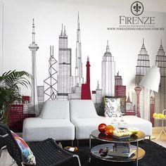 #Firenze, #tapiz, #muebles, #hogar, #decoracion, #contemporaneo, #vanguardia, #ciudad, #sofa, #sala  #home, #decoration, #furniture, #avantgarde, #city, #couch, #livingroom