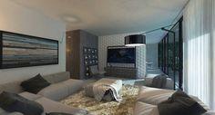 Prefabricated House : Soggiorno minimalista di Aleksandr Zhydkov architect