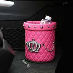 Car Accessories Just For You!Girly Car Accessories Just For You! Trash Can For Car, Car Trash, Trash Bag, Hot Pink Cars, Bling Car Accessories, Vehicle Accessories, Accessories Shop, Convertible, Girly Car