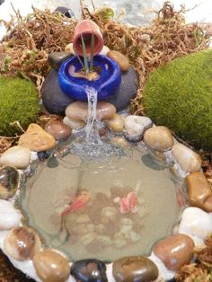 This is a 'special order' combination fountain & pond that I was commisioned to create! ~ Created by Nina Eary~