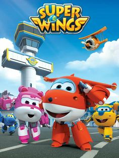 'Super Wings' Takes Flight with Iberia Partners Magic School Bus Characters, Cute Characters, 6th Birthday Parties, 3rd Birthday, Planes Birthday, Painel Super Wings, Imprimibles Super Wings, Art Wall Kids, Art For Kids