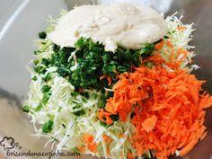 Coleslaw: Salada de repolho com maionese, muito saborosa e super comum nos churrascos e hamburgers americanos