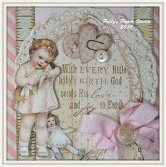 Imagine only. Would be cute to print out and frame. Little Baby Girl, Little Babies, Baby Kids, Baby Messages, Baby Bug, Baby Girl Cards, Let Your Light Shine, Scrapbook Albums, Scrapbooking