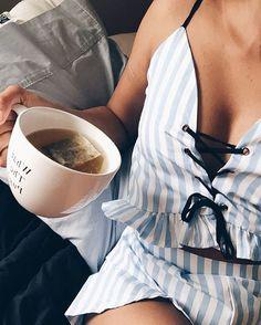 """belle-rebel-x: """"Sexy Camisole Stripe Backless Bandage Pleat Tank Short Suit """" Style Outfits, Cute Outfits, Pajama Outfits, Sexy Outfits, Short Suit, Striped Crop Top, Lingerie Sleepwear, Nightwear, Getting Cozy"""