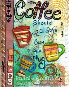 in a pretty mug!  Good morning everyone :)