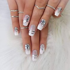 Makeup Nails Designs Makeup Nails Designs Manicure nude beige glitter, taupe nail women nail art natural Source with Unique Fashion Nails Picture Credit Cute Summer Nail Designs, Cute Summer Nails, Nail Summer, Taupe Nails, White Nails, Blue Nail, Leopard Nails, Acrylic Nail Designs, Nail Art Designs