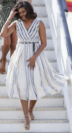 Michelle Obama wore a Proenza Schouler dress