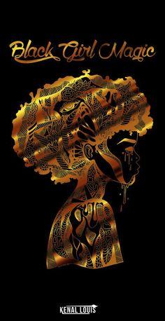 Creating The Most Creative Black Girl Magic Art and Black Goddess Poetry Art Black Love, Black Girl Art, Black Girl Magic, Art Girl, My Black Is Beautiful, Black Art Painting, Black Artwork, Arte Black, Afrique Art