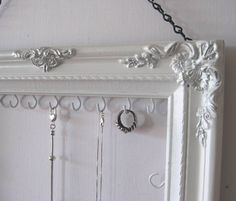 Hanging Jewelry Display and Organizer Bedroom by ByTheBirds,