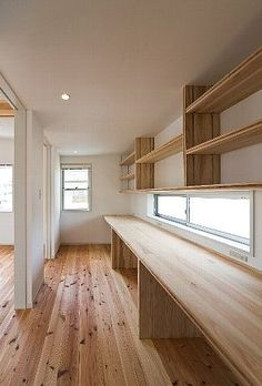 Home Office Design Inspiration Home Office Design, House Design, Japanese Interior, Japanese House, Small Office, House Rooms, Interior Design Living Room, Interior Architecture, House Plans