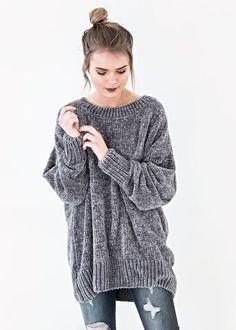 Boyfriend Velvet Crush Sweater