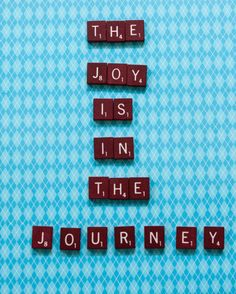 The joy is in the journey scrabble word art by KimberlysCanvas
