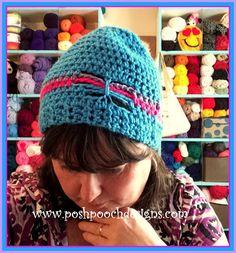 Free crochet pattern: Healing Butterfly Beanie with video tutorial by Posh Pooch Designs