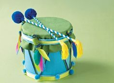 make a drum! at last somethong to do with those empty milk formula containers                                                                                                                                                                                 More