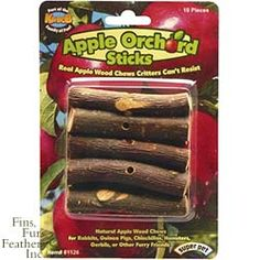 Pets International Small Animal Orchard Sticks Apple - 100079278 - For Your Pet Guine Pig, Guinea Pig Food, Rabbit Toys, Bunny Rabbit, Pet Boutique, Apple Orchard, Healthy Teeth, Pet Store, Pet Supplies