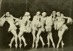 The Albertina Rasch Dancers from the Ziegfeld Follies. Thanks to ziegfeldfollies [link] for the hint. I used stock from: CcTheMonkey [link] [. The Danse Macabre Of Weimar Cabaret, La Danse Macabre, Vintage Ballet, Vintage Dance, Vintage Burlesque, 1920s Dance, Vintage Corset, Vintage Circus, Ziegfeld Girls