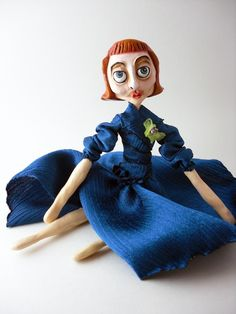 Ms Darling OOAK Polymer Clay Art Doll by OhMaudlinMe on Etsy, $105.00