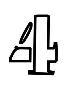 Plantillas de stencil de números y símbolos gratis para imprimir: Plantillas de stencils de números y símbolos gratis para imprimir: 4