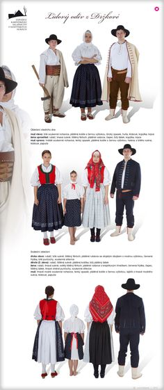 Moravian Wallachian costume from Držková, as it was in the half of the Folk Costume, Costumes, The Visitors, Fashion History, Czech Republic, Traditional Dresses, Folklore, Drake, Beautiful Outfits