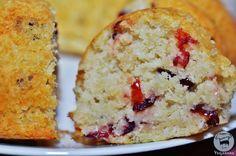 Veganana: Bolo de Coco e Cranberry