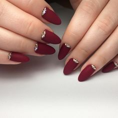 nice 55 Amazing Designs for Burgundy Nails - Captivating and Trendy