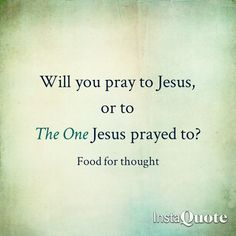 Jesus prayed to God(The One and Only Creator, Creator of Jesus, of you & me and everything in existence) so why do you pray to Jesus? Or to Mary? Or to the saints? Or to the cross? How is that monotheism?!