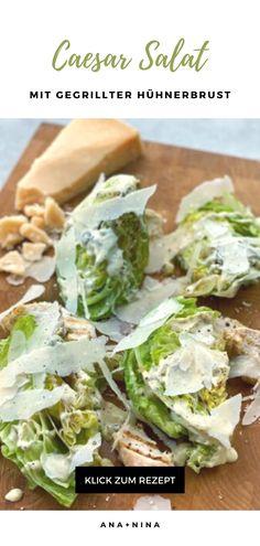 Dieser gesunde Caesar Salat ist perfekt für die Sommersaison und den Grillabend mit Freunden. Probiere mein Caesar Salat Rezept gleich aus oder pinne es für später!