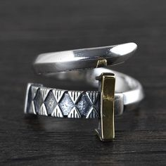 Men's Sterling Silver Sword Wrap Ring - Jewelry1000.com Mens Silver Jewelry, Sterling Silver Jewelry, Sterling Silver Flowers, Rings For Men, Sword, Men's Accessories, Gender, Brass, Metal