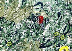 Tendance jungle Twill de soie lourd imprimé Jungle Life (Hermès)