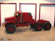 Red Kenworth heavy hauler big rig