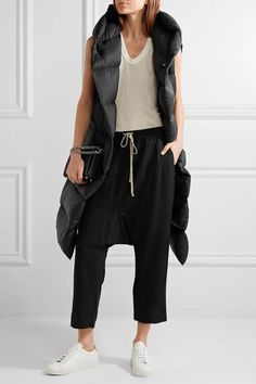 Rick Owens | Quilted shell down vest | NET-A-PORTER.COM
