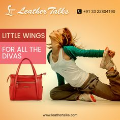 Leather Talks brings for all the divas a fascinating red colored handbag LITTLE WINGS - an attention grabber for sure! Constructed from genuine leather, this bag is very spacious, long lasting and light in weight.  #easytomaintain #shortgriphandle  http://leathertalks.com/product/little-wings-v/