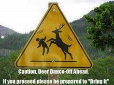 Deer dance off #sign #bringit #meme #lol